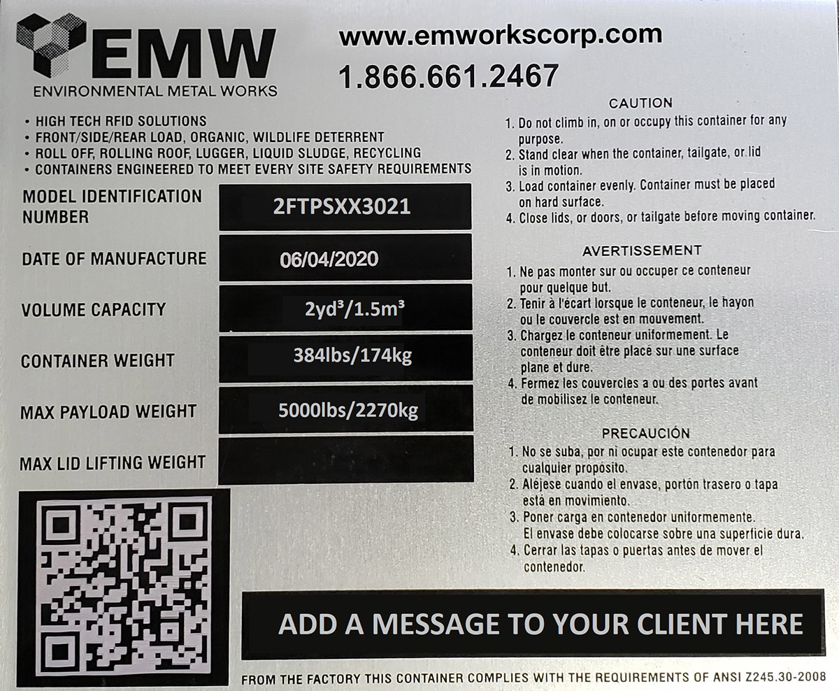 EMWorks Manufacturing Tag